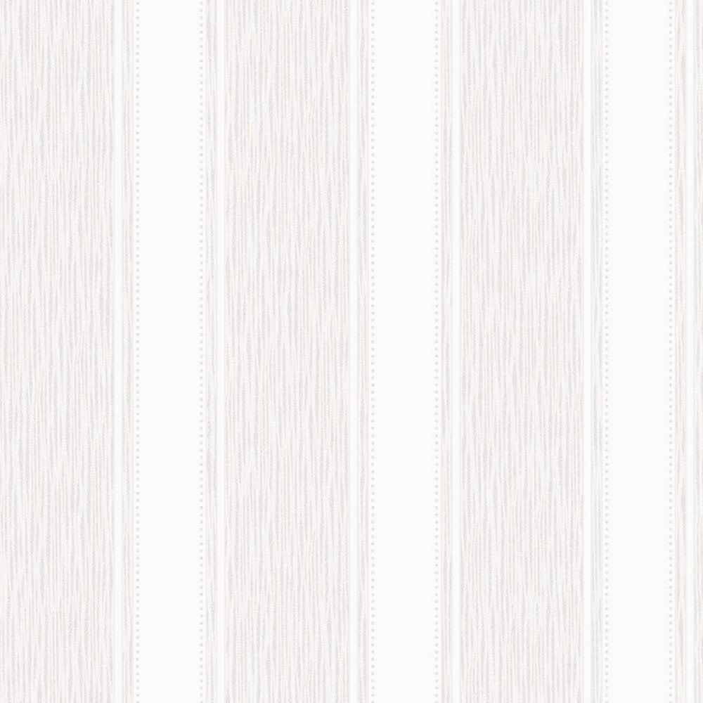 Henderson Interiors Chelsea Glitter Stripe Wallpaper White