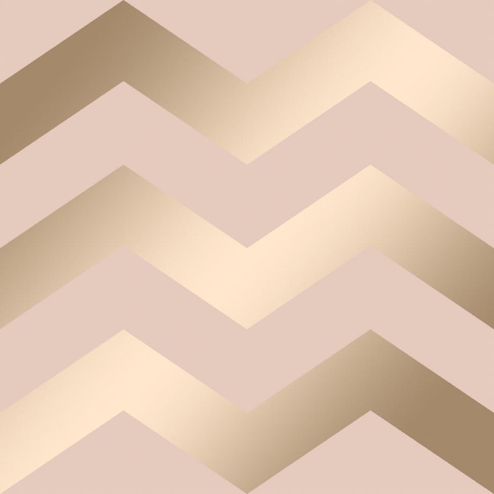 Chevron Geometric Wallpaper Pink Gold