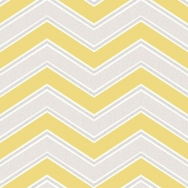 Chevron Geometric Wallpaper Yellow White