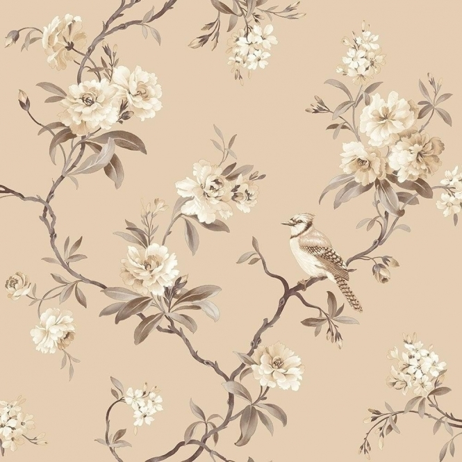 Fine Decor Chinoiserie Floral Wallpaper Natural (FD40767)