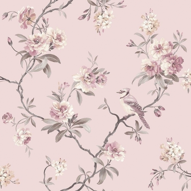 Fine Decor Chinoiserie Floral Wallpaper Pink (FD40766)