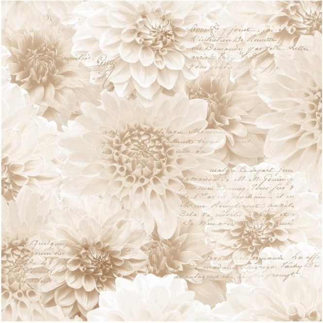 Muriva Chrysanthemum Wallpaper Natural (128501)