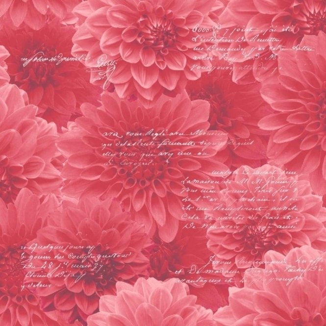 Muriva Chrysanthemum Wallpaper Red (128502)