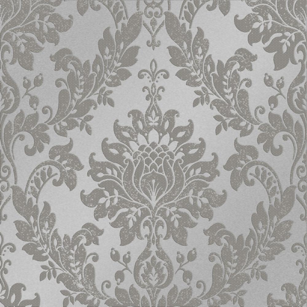 Clara Damask Wallpaper Dark Grey Wallpaper From I Love