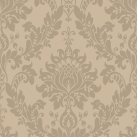 Clara Damask Wallpaper Sand