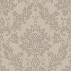 Clara Damask Wallpaper Taupe