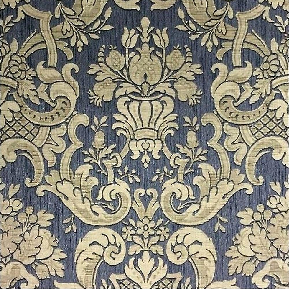 Milano Classic Damask Wallpaper Charcoal Gold M95551