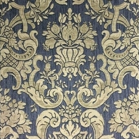 Classic Damask Wallpaper Charcoal Gold