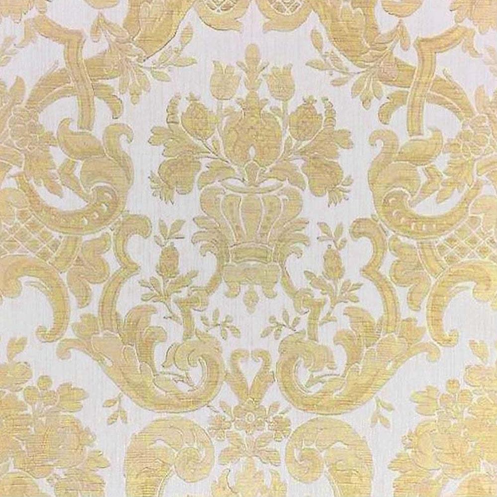 Milano Classic Damask Wallpaper Cream Gold M95553