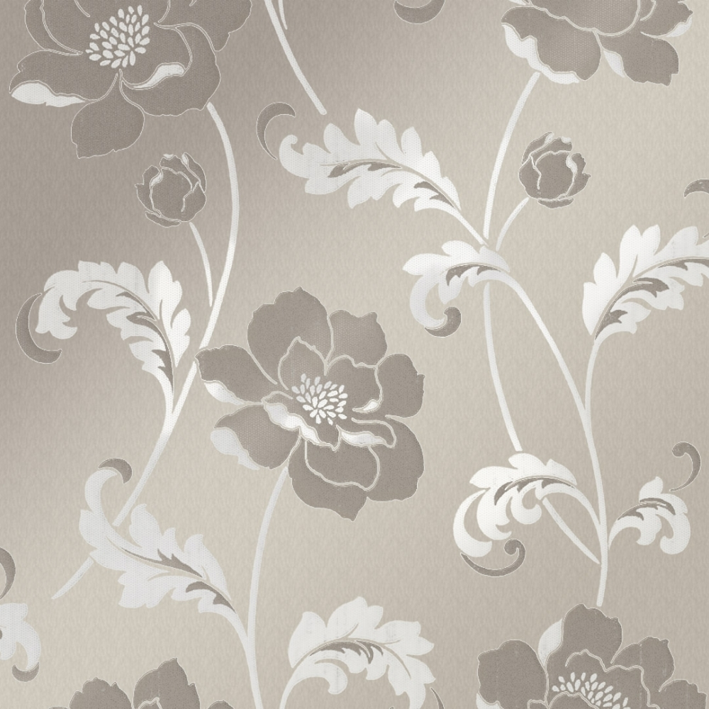 Buy Crown Flourish Wallpaper Plum Purple Cream