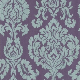 Classics Large Damask Wallpaper Purple, Silver (FD20327)
