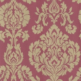 Classics Large Damask Wallpaper Red (FD20329)