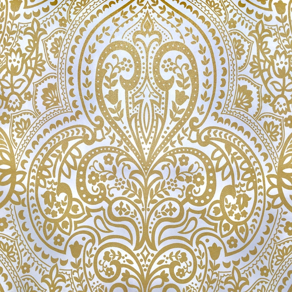 Casadeco Classique Damask Wallpaper Gold White 2047 21