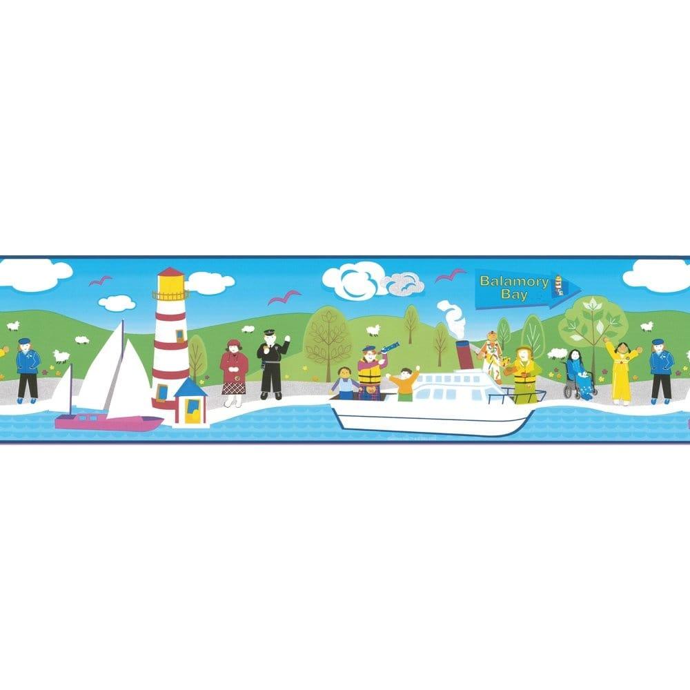 Buy Balamory Bay Wallpaper Border