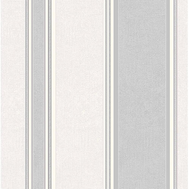 Coloroll Mallory Stripe Textured Vinyl Wallpaper Dappled Grey (M0916)