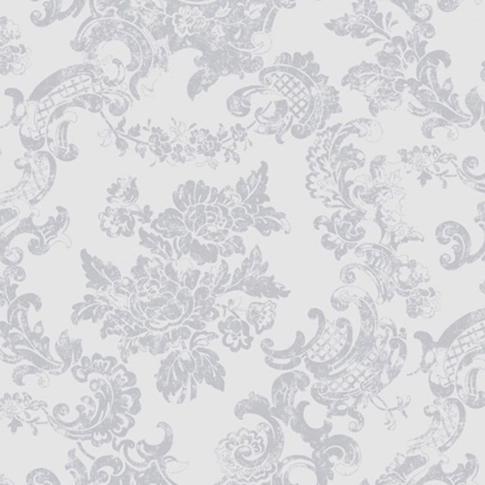 Love Lace White Metallic Effect Wallpaper : coloroll Vintage Lace Wallpaper Dove Grey (M0755) - Wallpaper from I Love Wallpaper UK