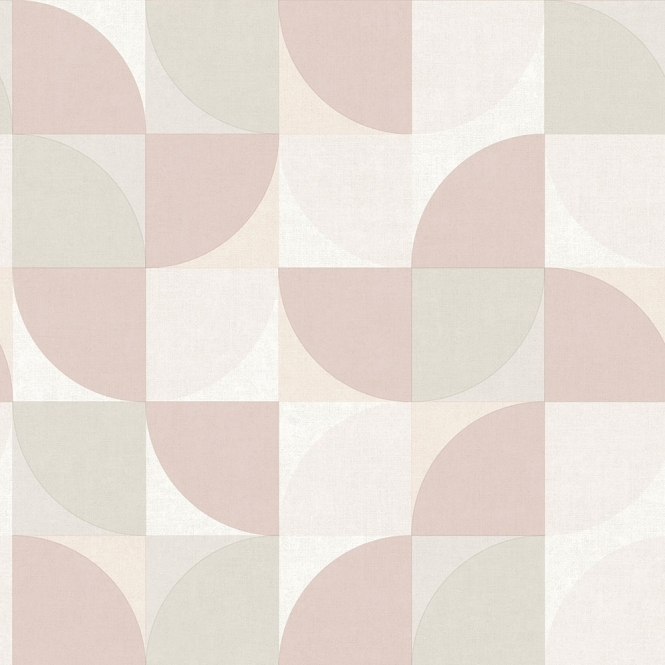 Concept Geometric Wallpaper Blush Pink Grey