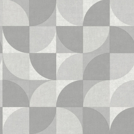 Concept Geometric Wallpaper Grey White