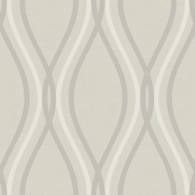 Arthouse Contour Geo Wave Wallpaper Taupe
