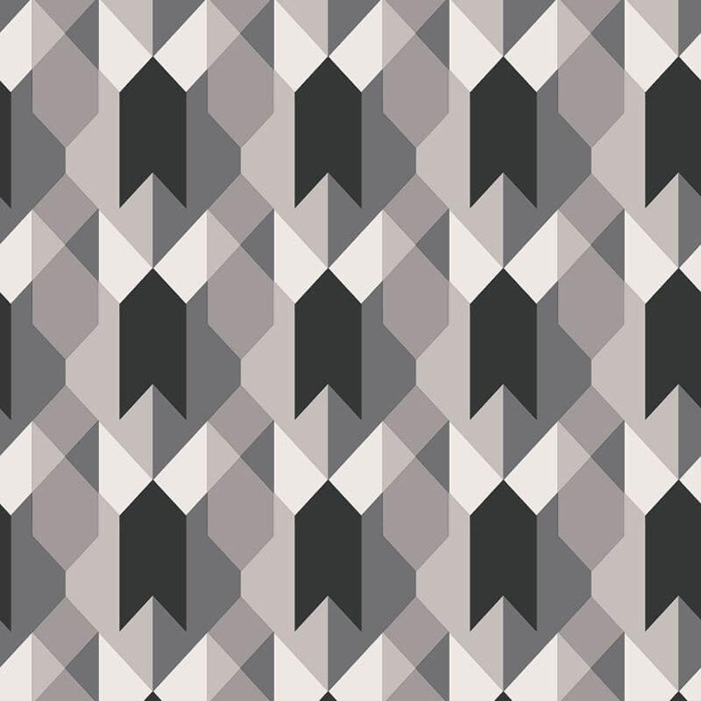 Copenhagen Geometric Wallpaper Black White