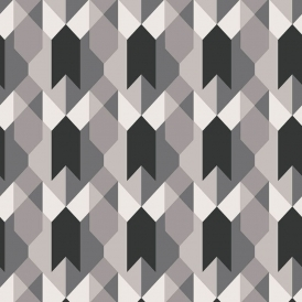 Copenhagen Geometric Wallpaper Black White