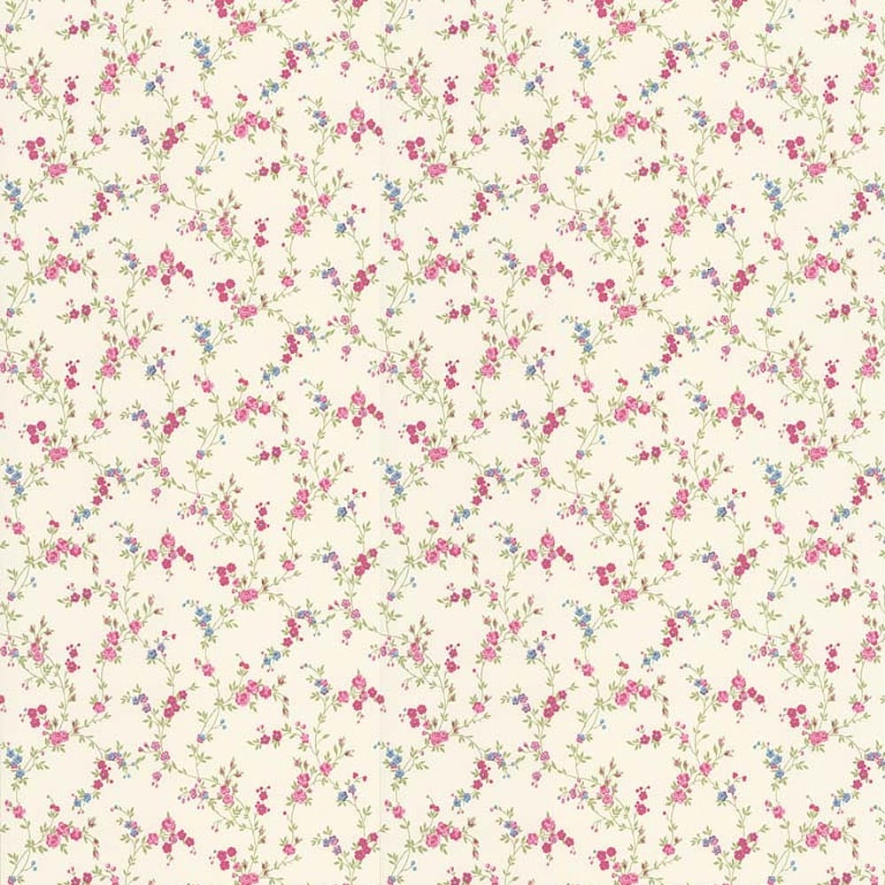 Crown Cosy Posy Wallpaper Candy Pink M0762 Wallpaper