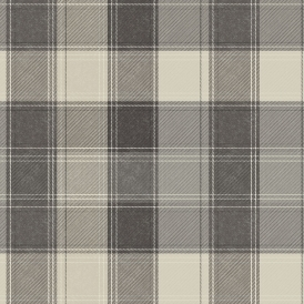 Country Check Patterned Wallpaper Mono