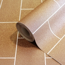 Crown Glitter Tile Wallpaper Copper (M1331)