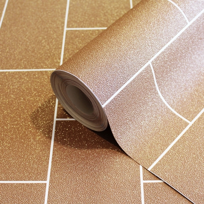 Crown Glitter Tile Wallpaper Copper