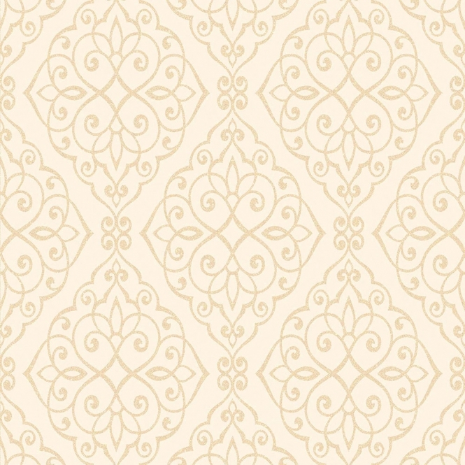 Crown Jasmine Wallpaper Ivory Sparkle (M1089)