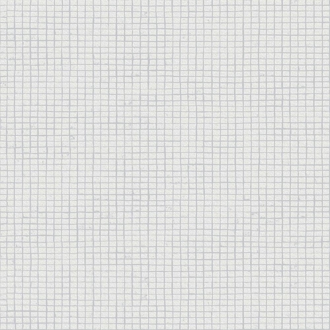 Crown London Mosaic Tile Wallpaper White (M1056)
