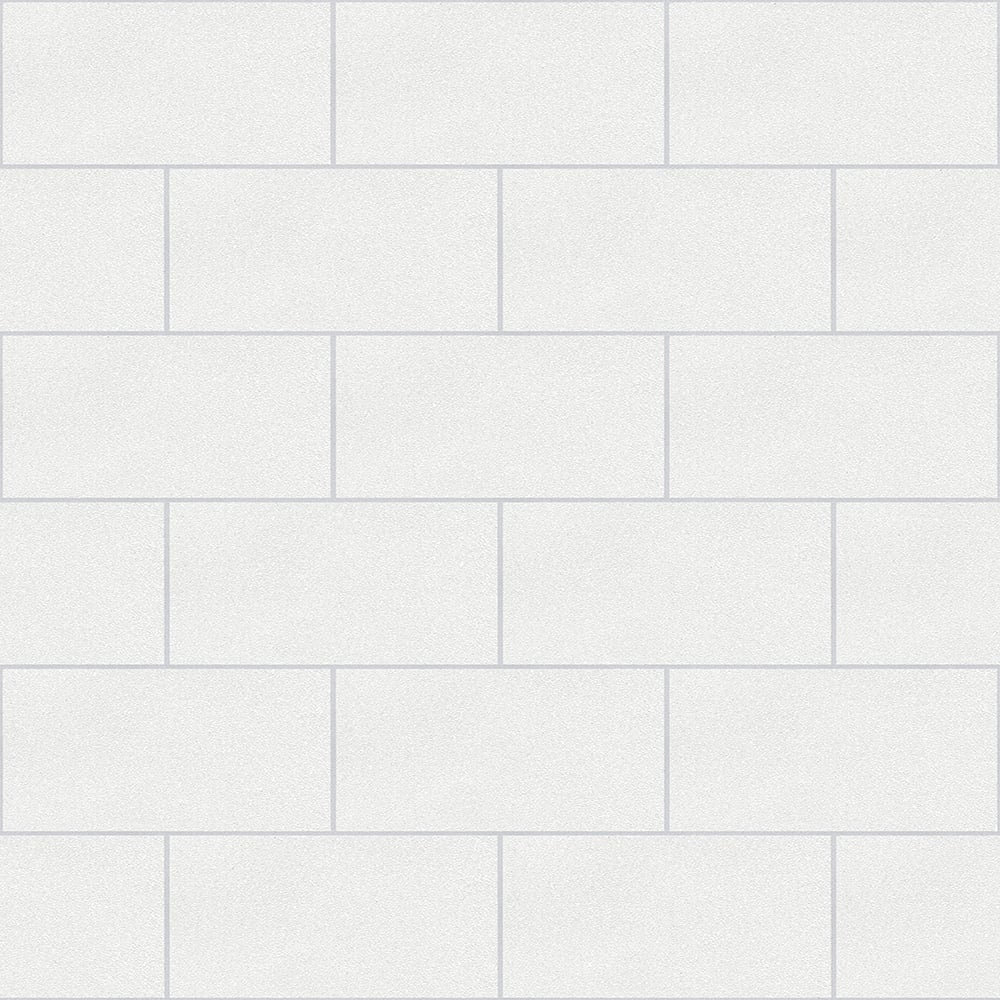 Crown London Mosaic Tile Wallpaper White Wallpaper From