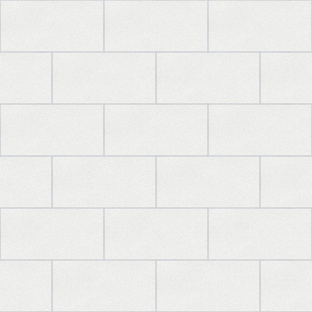 Crown London Tile Wallpaper White M1054 From