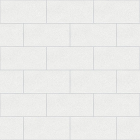 Crown London Tile Wallpaper White (M1054)