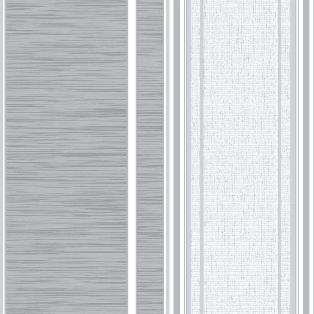 Crown Manhattan Stripe Texture Blown Vinyl Wallpaper Grey M0907