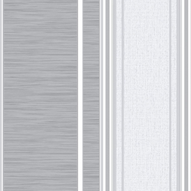 Crown Manhattan Stripe Texture Blown Vinyl Wallpaper Grey (M0907)