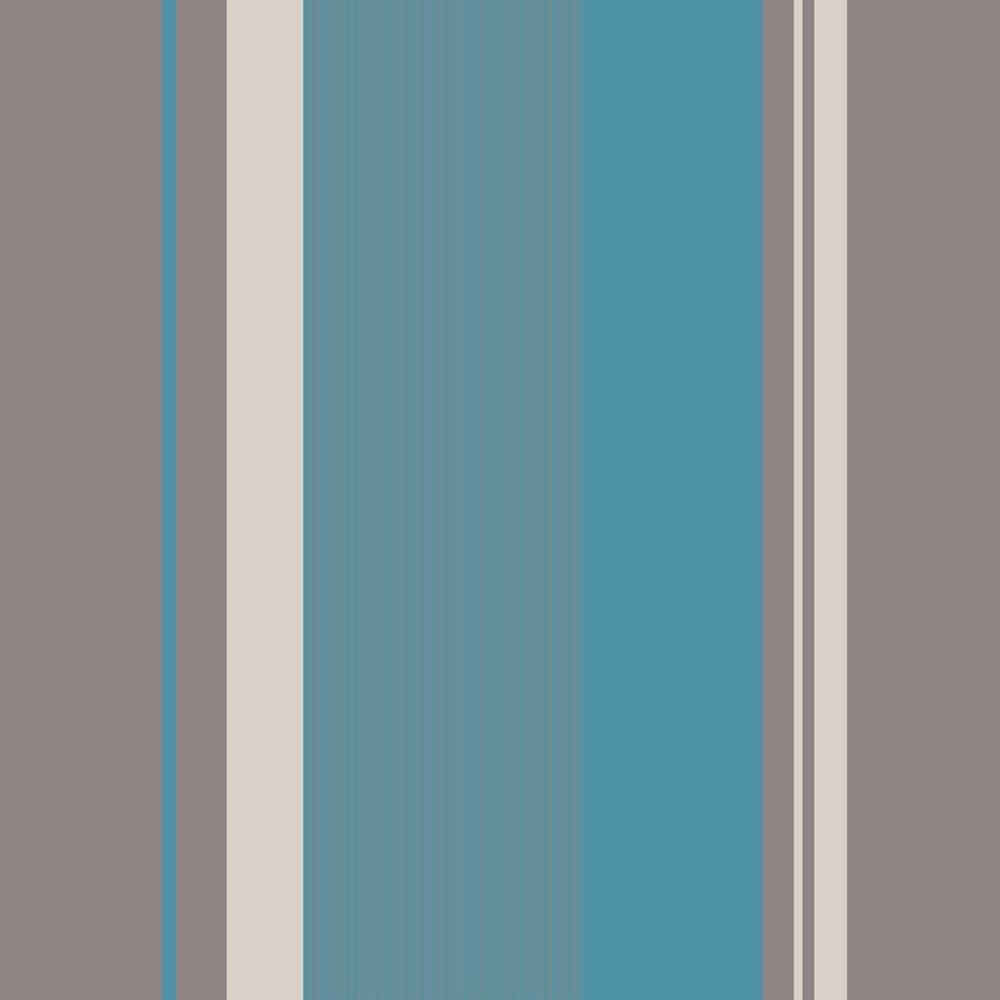 Crown Millie Stripe Wallpaper Teal M0883 Wallpaper