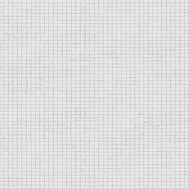 Crown Mosaic Tile Wallpaper White (M1056)