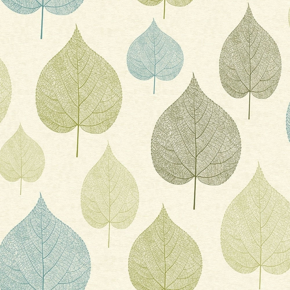 Crown Signature Leaf Wallpaper Green M1071 Wallpaper