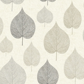 Crown Signature Leaf Wallpaper Natural