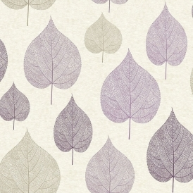 Crown Signature Leaf Wallpaper Plum (M1068)