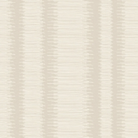 Crushed Stripe Geometric Wallpaper Natural