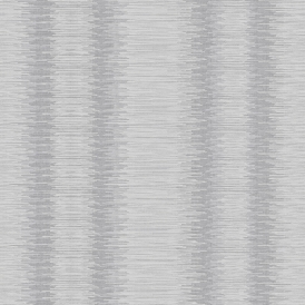 Crushed Stripe Geometric Wallpaper Silver