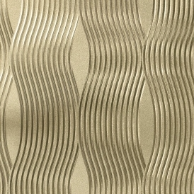 Curve Metallic Wallpaper Gold