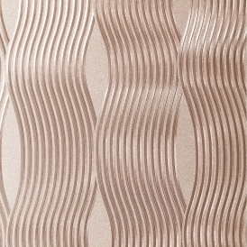 Curve Metallic Wallpaper Rose Gold