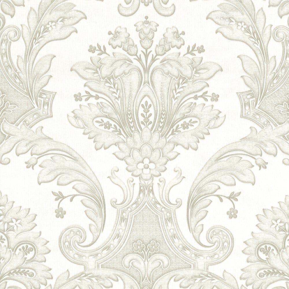 Buy Belgravia Decor Damasco Italiano White Silver