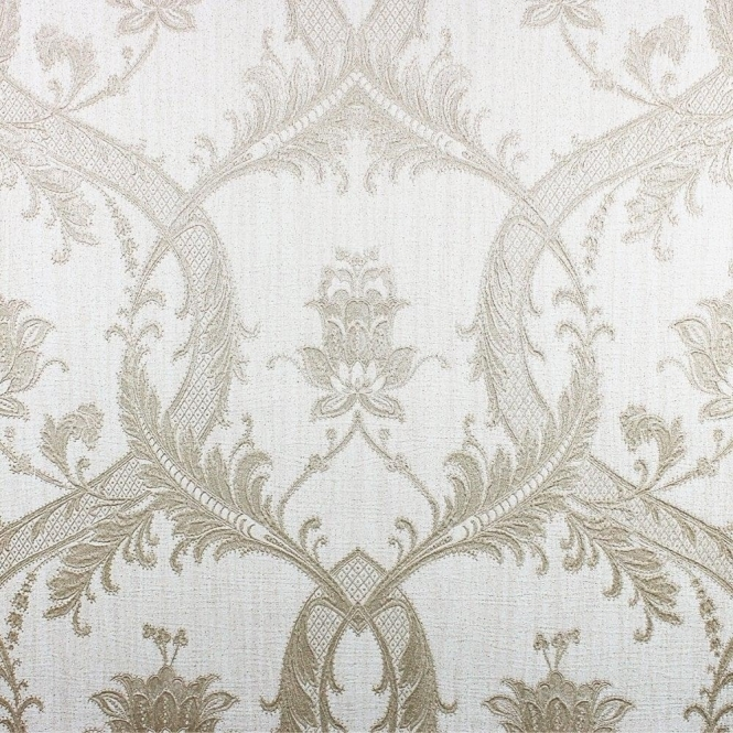Milano Damask Glitter Wallpaper Taupe / Gold (M95560)
