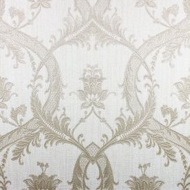 Damask Glitter Wallpaper Taupe Gold