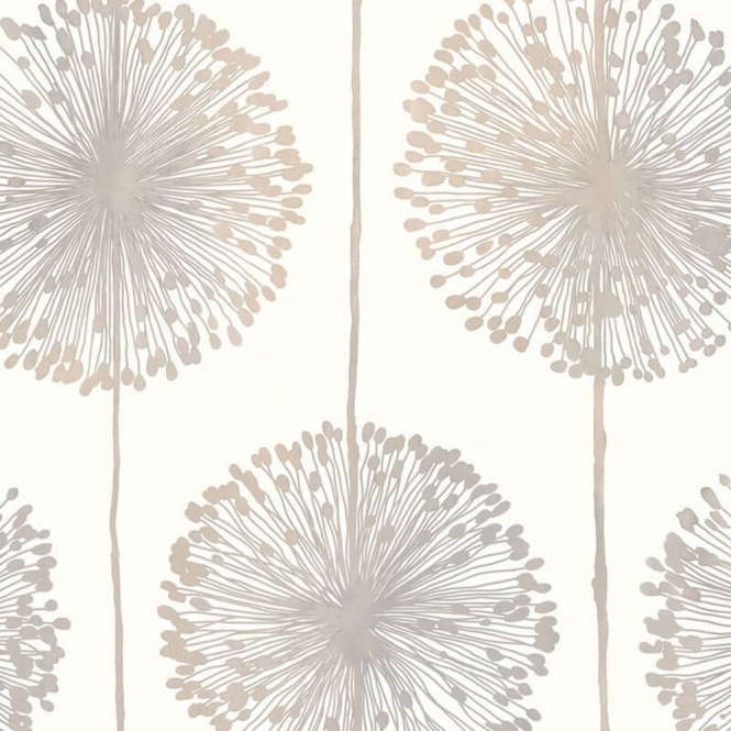 Muriva Dandelion Floral Wallpaper Cream, Grey, Gold (J04207)