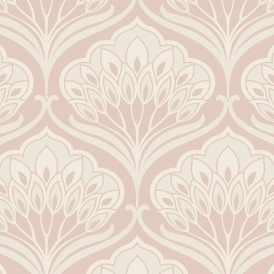 Deco Peacock Wallpaper Blush